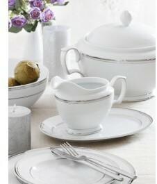 Chodzież Zestaw obiadowy dla 12 osób porcelana MariaPaula Platynowa Linia | Darm