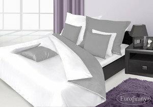 Eurofirany Pościel Satynowa Premium Nova 200x220 Biały Srebrny E237-8221F