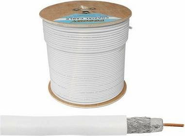 Lexton Kabel koncentryczny ŻELOWANY MIEDZIANY LX K531B F690BV BIAŁY (ROLKA 300mb