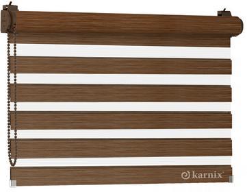 Karnix Mini roleta Dzień Noc LISA NATURE - trufla / Brązowy