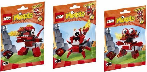 Lego 41530+41531+41532 - Mixels - Meltus Flamzer Burnard