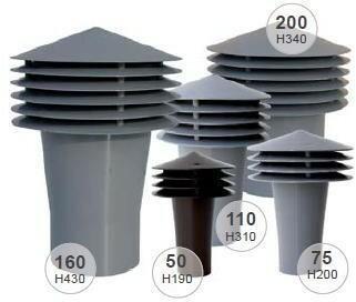 Wirplast Wywietrzak grawitacyjny PP, średnica 200