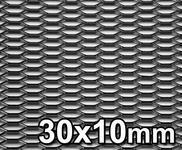 GJK Styling Siatka tuningowa Czarna 30mm x 10mm 100cm x 40cm BL 30X10 40X100