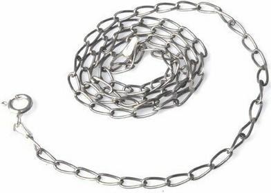 AnKa Biżuteria Łańcuszek srebrny rodowany 70 cm Cheval Rod . Łańcuszek włoski.