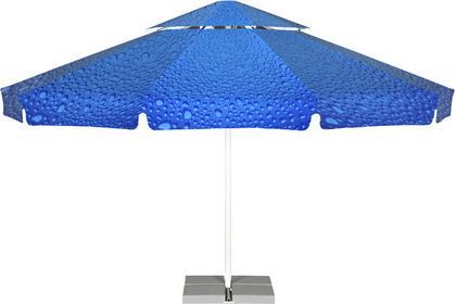 LITEX Promo Sp. z o.o. Parasol ogrodowy Vesuvio 5,5m Bąbelki Niebieskie z podsta