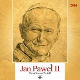 KD14 Kalendarz ścienny duży Jan Paweł II  KD 14 2014