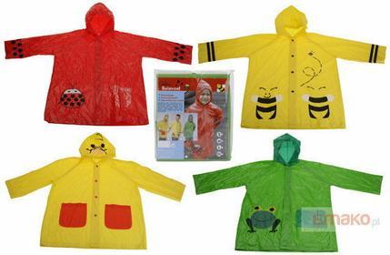 Płaszcz przeciwdeszczowy ? pelerynka z kapturem - biedronka 242570-czerwony-bied