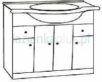 Deftrans Szafka pod umywalkę Armando D105 001-D-10501 001D10501