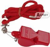 SPOKEY Gwizdek plastikowy ze sznurkiem MAYDAY czerwony 83606