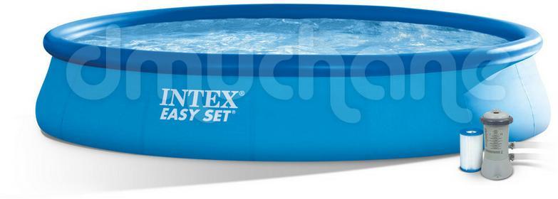 Intex Basen ogrodowy rozporowy z pompą 457 x 84 cm 3w1 28158