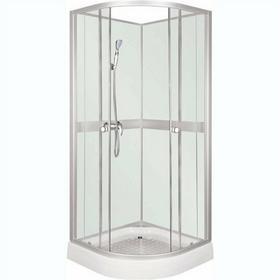 Novoterm Kerra Classic White 80x80 profil satyna szkło transparentne/białe + brodzik