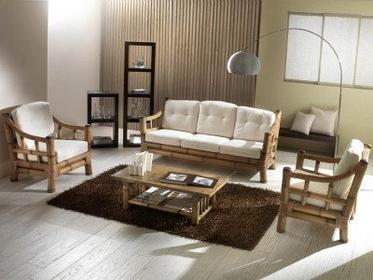 Bortoli Komplet salonowy z bambusa i rattanu Kona