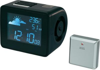 Zegar cyfrowy z projektorem wyświetlającym godziny Sterowany radiowo Renkforce K