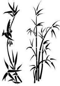 Szabloneria Naklejka flora 131 - Bambusy