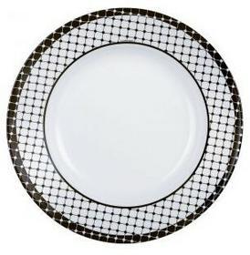 Luminarc Talerz głęboki Tiago 22 cm biały czarny