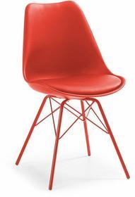 LaForma Krzesło Lars Plastikowe Czerwone