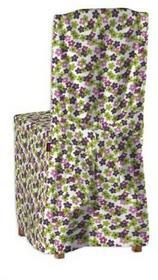 Dekoria Sukienka na krzesło Jokkmokk lub Stefan Fleur fioletowo-zielone kwiatusz