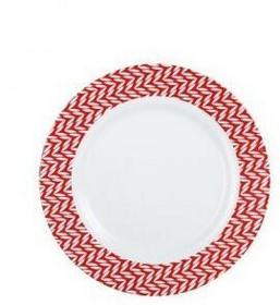 Luminarc Talerz deserowy Battuto 19 cm biały czerwony