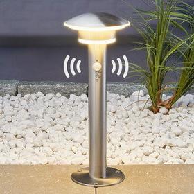 Lampenwelt Lampa na cokół LILLIEN z LED i czujnikiem ruchu