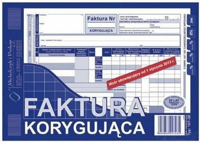 MICHALCZYK&Prokop Druk M FAKTURA VAT A5 KORYGUJĄCA 107-3e