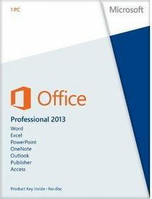 Microsoft Office 2013 Professional PL licencja elektroniczna