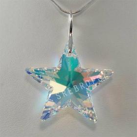 Gwiazda z kryształkiem swarovskiego - CRYSTAL AB 40.0 mm (6714 40.0 mm)