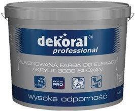 Dekoral AKRYLIT 3000 SILOXAN Professional 10L biała