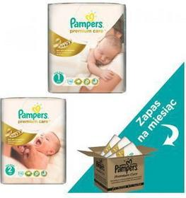 Pampers Premium Care 1 Newborn + 2 Mini 222 szt.