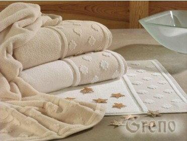 Greno 01. Elegancki Ręcznik Bawełniany z Lnianą Bordiurą RAJ 30x50 cm