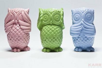 Kare Design Skarbonka Sowa niebieska - niebieski