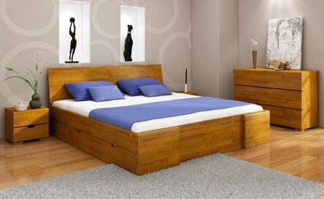 Visby Łóżko Bukowe Hessler High Drawers (z Szuflada do łóżkami)