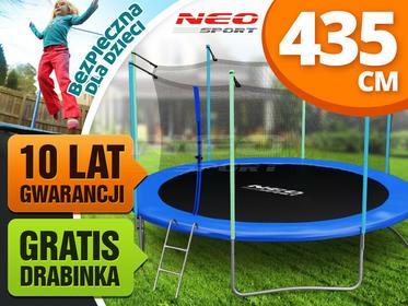 Neo-sport Trampolina ogrodowa 14ft/435cm z siatką wewnętrzną i drabinką NS-14W161