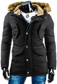 czarna kurtka zimowa męska (tx0893)