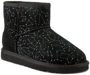 UGG Buty W Classic Mini Constellation 1010244 Blk skóra naturalna/zamsz, skóra naturalna/-skóra naturalna (owcza)