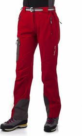 Milo Spodnie trekkingowe damskie Vino Lady - czerwony