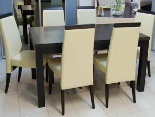 Black Red White Meble-Stelmach Krzesło ISSORIA 6 szt + stół 90/140-180