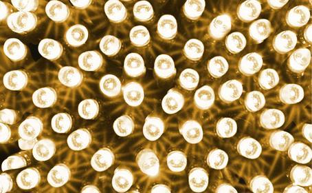 BULINEX Lampki choinkowe LED BIAŁE CIEPŁE
