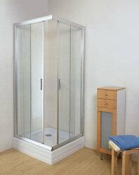 Ravak Rapier NRKRV2-100 100x100 profil biały szkło grape 1ANA0100ZG