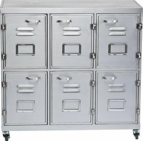 KARE design Agency Metalowa Komoda z 6 Drzwiczkami 78x70cm - 78595