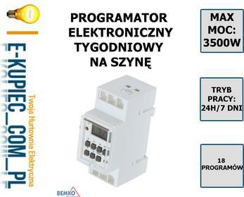 Bemko Sp. z o.o. PROGRAMATOR CZASOWY cyfrowy 7D A25-TSGE2