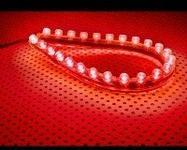 Lamptron FlexLight Standard - pasek 24x LED - czerwony