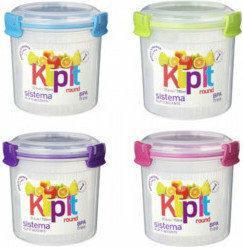 Sistema Klip It Okrągły pojemnik na Pojemnik do przechowywania żywności 700ml (z koszyczkiem) / biały