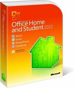 Microsoft Office 2010 Home and Student - dla użytkowników domowych i uczniów PL PKC