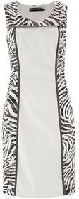 Bonprix Sukienka w paski zebry biało-czarny zebra 935843