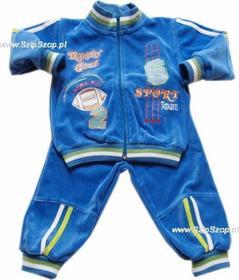 Dresy dziecięce bluza i spodnie Tadek niebieskie 86