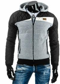 Męska kurtka przejściowa czarna (tx1012) - czarny