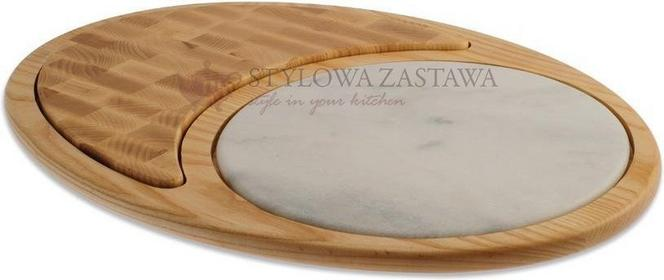 Legnoart Deska De Luxe, drewno jesionowe + marmur, Laguna PT-1