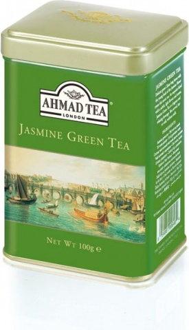 Ahmad Tea London Green Tea Jasmin - Herbata zielona Jaśminowa liściasta - 100g