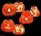 Sezamik Dekoracja Halloween Dynia dekoracyjna z efektem iluminacyjnym 5294 Z