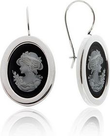 AnKa Biżuteria Kolczyki srebrne Kamea